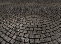 Tiled cobblestone paving