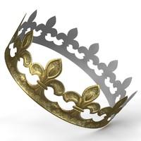 3d cardboard crown