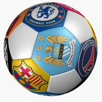 3d soccer ball club logo