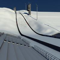 3d model of ski jumping hill