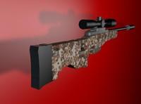 modeled sniper awp 3d model