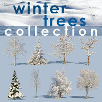 winter trees collection