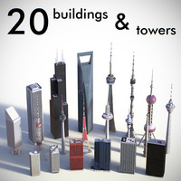 3ds max buildings towers