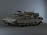 merkava tanks 3d model