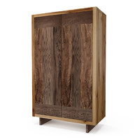 hudson french walnut armoire 3d model
