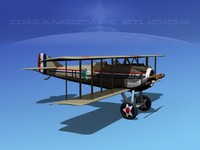 3d model of spad xiii xii fighters