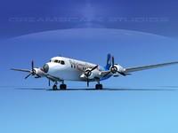 3d model propellers douglas dc-7 dc-7b