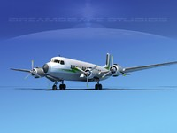 3dsmax propellers douglas dc-7 dc-7b