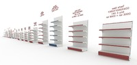 3d model supermarket shelves