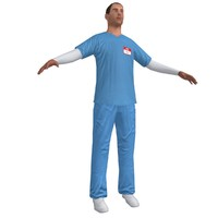 3d nurse paramedic model