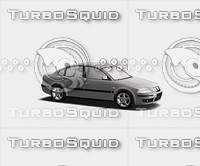 sedan car generic parts 3d model
