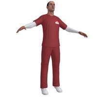 nurse paramedic 3d model