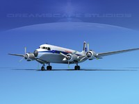 lwo propellers douglas dc-7 dc-7b