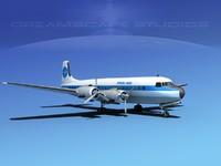 3d model propellers douglas dc-7 american