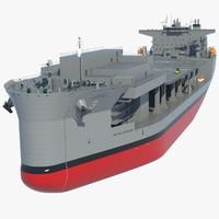 Mobile Landing Platform ship 3D models