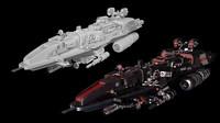 3d model space cruiser