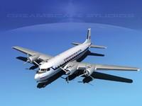 3ds max propellers douglas dc-7 dc-7b
