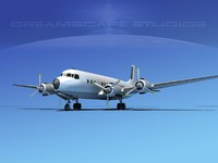 propellers douglas dc-7 dc-7b 3d dxf