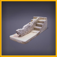 3d 3ds stone dragon stairs sculpture