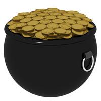 pot gold 3d model