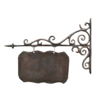 3d cast iron signboard model