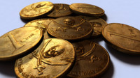 free gold pirate coin 3d model