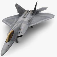 3d model lockheed martin f22 raptor