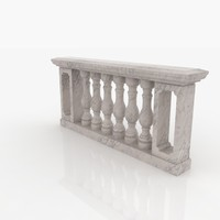 3d model of balustrade