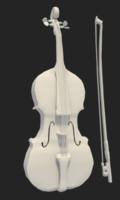 3d model violin bow