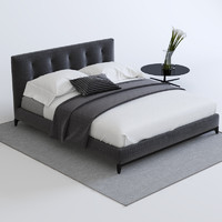 bed minotti 3d model