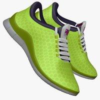 3d obj lime green sneaker