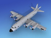 orion lockheed p-3 navy 3d max