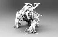 sculpted monster zbrush c4d