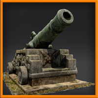 sculpture cannon 3d model
