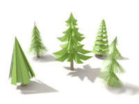 Pine Tree collection[Lowpoly]
