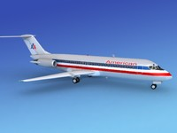 dc-9 airliner 3ds