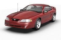 3d model of 1994 mustang