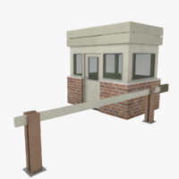 gate house 3d 3ds