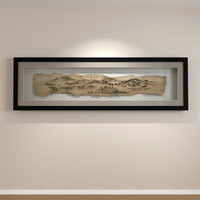 3ds max ancient scroll shadow box