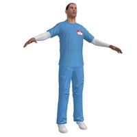 nurse paramedic 3d obj