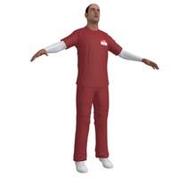nurse paramedic 3d max