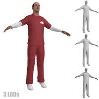 3d model nurse 3