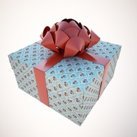 holiday package box 3d 3ds