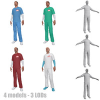 pack nurse rigging 3d model