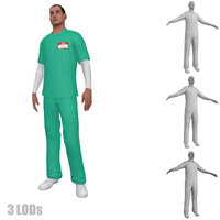 3d model nurse rigging 2