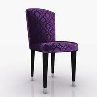 3d fendi chair damask model