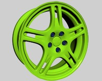3d model stock rims subaru impreza