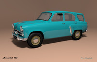 mzma 423 moskvitch 3d 3ds