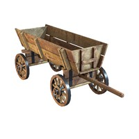 old wooden cart 3d max