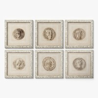 Eichholtz Print Antique Coins Set Of 6